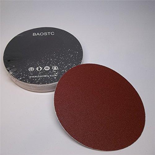 Buy Bargain BAOSTC 6 no holes P240 PSA sanding disc,red aluminum oxide,50PACK