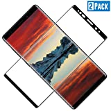 TOCYORIC Protector de Pantalla para Samsung Galaxy Note 9, 3D Curvo Full-Cover Cristal Templado Galaxy Note 9, Alta Definicion, 9H Dureza, Resistente a Arañazos, Vidrio Templado para Note 9[2 Pack]