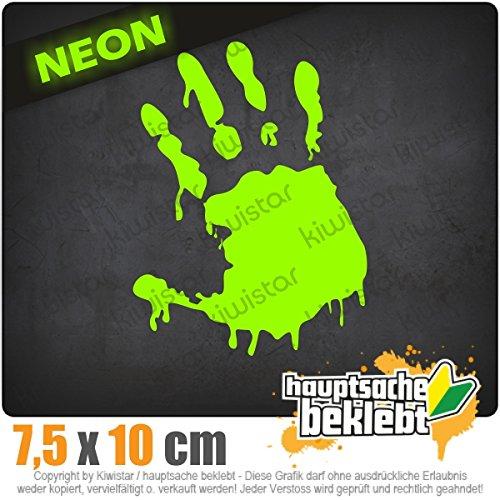 Kiwistar Zombie Hand 8 x 11 cm IN 15 Farben - Neon + Chrom! Sticker Aufkleber