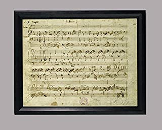 BiblioArt Series 「モーツァルト自筆譜-「ヴァイオリン・ソナタ ト長調 作品2の5(K379)」額装品