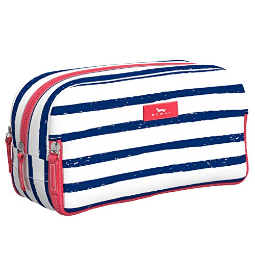 SCOUT 3-Way Bag Makeup Pouch and Toiletry Bag, Water Resistant, Lightweight, Travel Toiletry and Makeup Bag for Women with 3 Separate Zipper Compartments