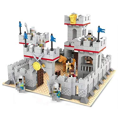 yqs Bloques de construcción para niños 686pcs modelo 3D bloques de construcción castillo príncipe caballeros caballo ladrillos educativos juguetes compatibles para niños