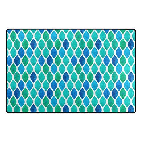 FANTAZIO - Accessoire de Tapis pour Coins et Bords - Anti-bouclage - Idéal pour Bloquer Les Tapis - 78,7 x 50,8 cm - 152,4 x 99,1 cm, Polyester, 1, 60 x 39 inch