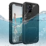 DOOGE iPhone 11 Pro Max Waterproof Case IP69K Shockproof Dirtproof Snowproof Full-Body Heavy Duty Protection Case with Built-in Kickstand Screen Protector for Apple iPhone 11 Pro Max