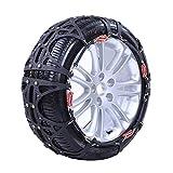 WFFF 2Pcs / Set Cadenas de Nieve para Coche, Cadena de neumáticos de Goma Resistente al Desgaste para conducción de Arena, Nieve y Hielo de SUV