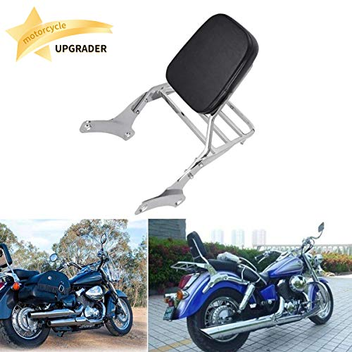 Backrest Sissy Bar Luggage Rack Compatible with/Replacement For Honda Shadow Ace 750 VT400 RC44 VT750C 1997-2003