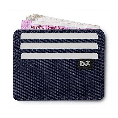 DailyObjects Nylon Card Case (Blue_BLUE-NYLON-SKIN-FIT-CRWLT)