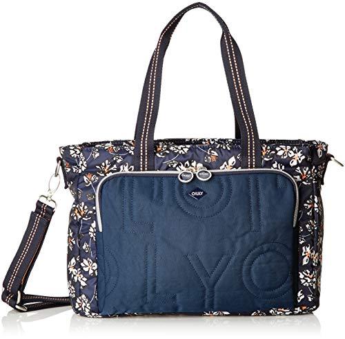 Oilily Damen Charm Diaperbag Mhz Rucksackhandtasche, Blau (Blue-Black), 15x26x38 cm
