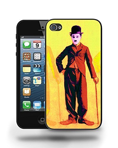 Famous Movie Star Charlie Chaplin Sketch Art Phone Case Cover Designs for iPhone 5 5S