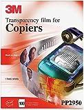 3M PP2950 Copier Transparency Film, 8-1/2-Inch X 11-Inch, 100 Per Box, Black on Clear