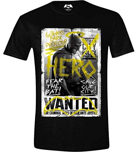 DC Comics Hombre Batman v Superman Wanted Poster Camiseta