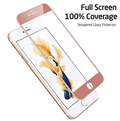 Full Coverage Tempered Glass Film Screen Protector for iPhone 7 Plus (Rose Gold)