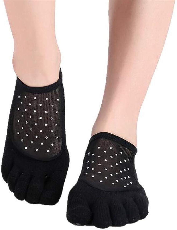 Yoga Socks Non Skid Pilates Ballet for Women 2 Pairs,FiveFinger Socks Floor Socks Sports Socks