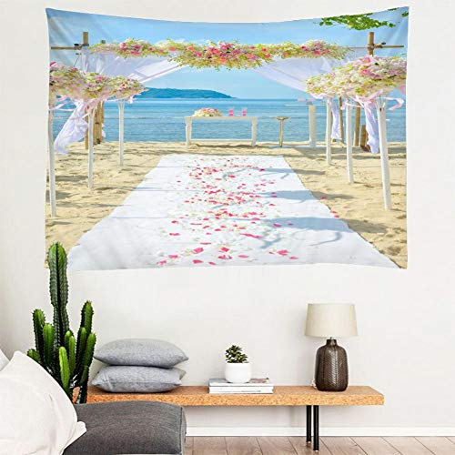 N/A Tapestry Wall Hanging 3D Printed Arched Tapestries Wall Hanging For Wedding Backdrop Tapestry Travel Andy Beach Picnic Bed Heet Halloween Christmas Home Decoration Gift 52X60 Inches