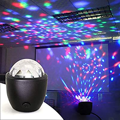 barsku Disco Ball Disco Lights,Portable LED Magic Disco Ball Stage Light Sound Activated Party Lightsfor Car Room Dance Parties