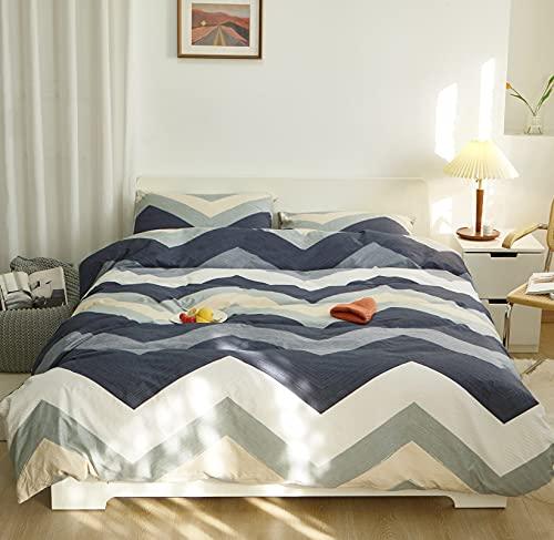 GETIYA Ropa de cama moderna geométrica de 220 x 240 cm, ropa de cama para hombre y mujer, funda nórdica con cremallera, 2 fundas de almohada de 80 x 80 cm