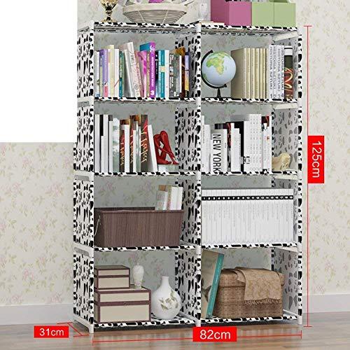 AOIWE Estantería de escritorio multicapa para estudiantes, estantería de plástico simple, 82 x 31 x 125 cm, color: E, tamaño: 82 x 31 x 125 cm (32 x 12 x 49)