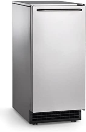 """Scotsman CU50GA-1A Undercounter Ice Maker, Gourmet Cube, Air Cooled, Gravity Drain with Cord, 115V/60/1-ph, 14.4 Amp (15 Amp Circuit Required), 14.9"""" Width x 22"""" Diameter x 34.4"""" Height"""