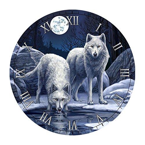 Puckator ckp109Wanduhr Die Krieger des Winters von Lisa Parker Holz blau, weiß 30x 30x 3,5cm