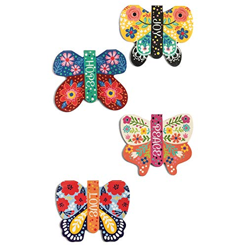 Hope Piece Joy Love Colorful Butterfly 2 x 1.5 Vinyl Decorative Magnetic Bookmark