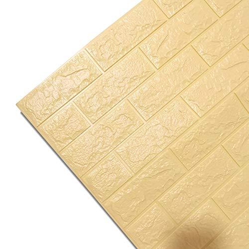 Piedra de Ladrillo Paneles de Pared Autoadhesivos Pegatinas de pared 3D Autoadhesivo Papel tapiz Paneles Impermeable Imitación Ladrillo Dormitorio Decoración Sala de estar Cocina TV Decoración del hog
