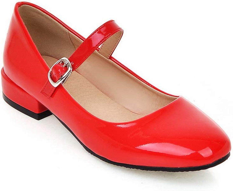 BalaMasa Womens Casual Travel Solid Urethane Pumps shoes APL10561