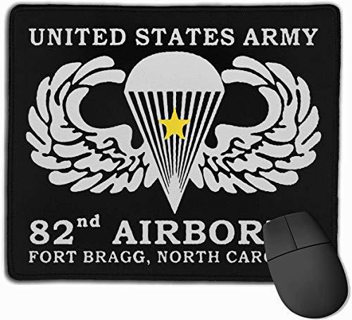 United States Army 82. Airborne Mauspad mit Rutschfester Gummibasis für Computer, Laptops, Büros und Privathaushalte