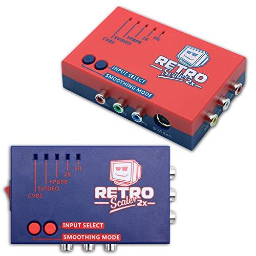 CeFoney Conversor HDMI, RetroScaler2x retro consola de juegos HD convertidor AV a HDMI multiplicador de línea para N64/NES/Dreamcast/Saturn (caja de papel)