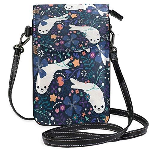 XCNGG Monedero pequeño para teléfono celular Seal Cell Phone Purse Wallet for Women Girl Small Crossbody Purse Bags