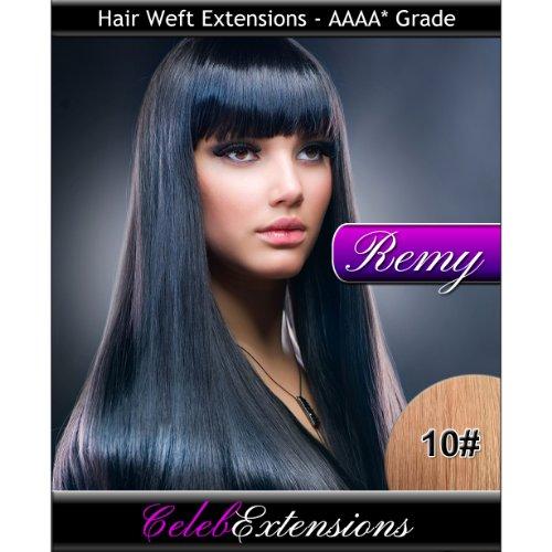 50,8 cm 10 # Chatain Clair Remy extensions capillaires Cheveux indiens 100% humains tissage. Lisse et Soyeux 6 m Poids : 100 g AAAA de grande qualité. Qualité. Par celebextensions