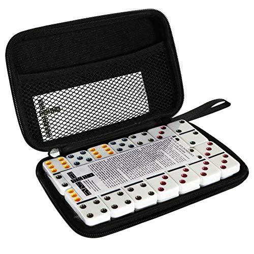 Tacobear Domino Infantil Domino 6 Doble Domino Juego De Domin para Nios Juego De Tctica Juego De Mesa 28 Dominoes y Bolsa