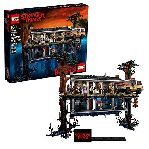 LEGO Stranger Things - Mundo del revés, Set de construcción de la casa de Will, incluye 8 minifiguras de personajes de la serie (75810)