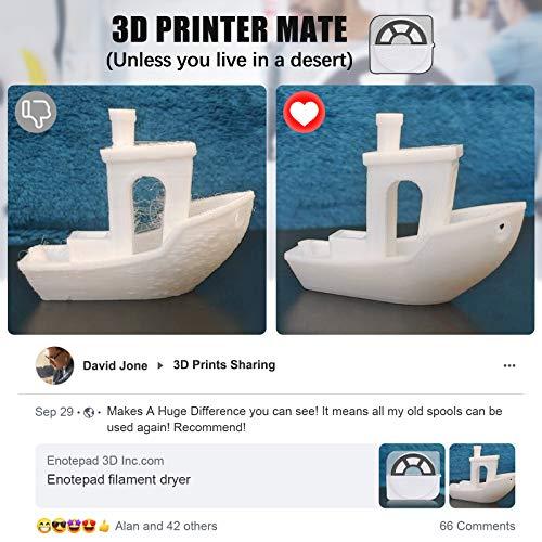 Scatola Essiccatore Filamento Stampante 3D, Filamento Dryer Box Residui Umidità Migliora Qualità Rimane in Funzione Durante Stampa, Filament Storage Dry Box Compatibilità Filamento 3D PLA PETG ABS