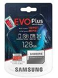 Samsung, Evo Plus, Micro SD SDXC da 128 GB, classe 10 U3, scheda di memoria, 100MB/S, 4K Ultra HD, MB-MC128HA/EU