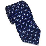 Cravatta di seta da uomo, cravatta a tema astronomia con disco volante in blu