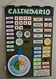 Babú Art. Mi primer calendario fieltro, aprende jugando, montessori hecho a mano