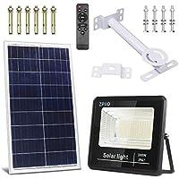 Zpiio 100W LED Solar Flood Light with Remote Control