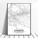 Leinwanddruck,Sarajevo Bosnien Und Herzegowina