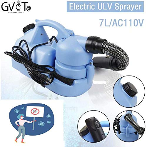 GVCTⓇ 7L ULV Fogger Atomizzatore Ultra-Basso portatile Atomizzatore Disinfezione Sterilizzazione per grandi aree/Disinfezione adatto per interni ed esterni.