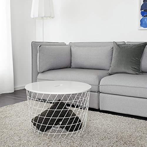 Tok Mark Traders Mesa de almacenamiento KVISTBRO de color blanco, 61 cm duradero y fácil de cuidar. Mesas auxiliares y mesas auxiliares. Mesas y escritorios. Muebles respetuosos con el medio ambiente