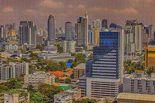 Rompecabezas para adultos Tailandia Bangkok Puzzle 1000 piezas Recuerdo de viaje de madera