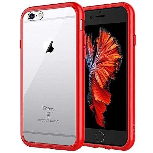 JETech Funda Compatible iPhone 6s y iPhone 6, Carcasa Anti-Choques y Anti-Arañazos, Rojo