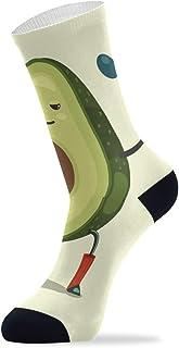 Calcetines tobilleros altos para hombre y mujer, diseño de aguacate