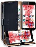MoEx Funda Cartera [protección 360°] Compatible con Wiko Rainbow Jam 4G | Cierre magnético, Noir