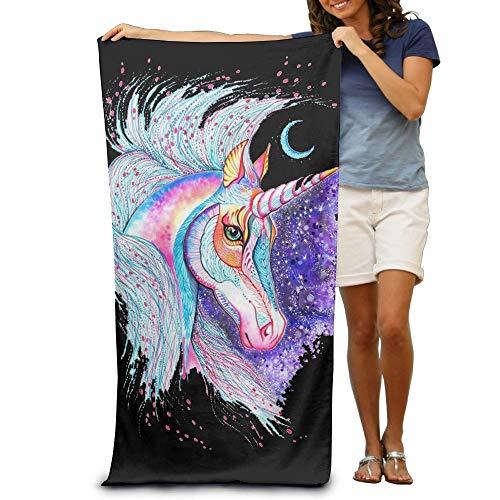 Colorido unicornio absorbente de secado rápido viaje playa manta piscina baño toalla de playa de gran tamaño 31.5 in51.2 pulgadas