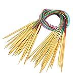 Coopay - Juego de agujas de tejer circulares (60 cm, 18 tamaños, 2 mm a 10 mm)