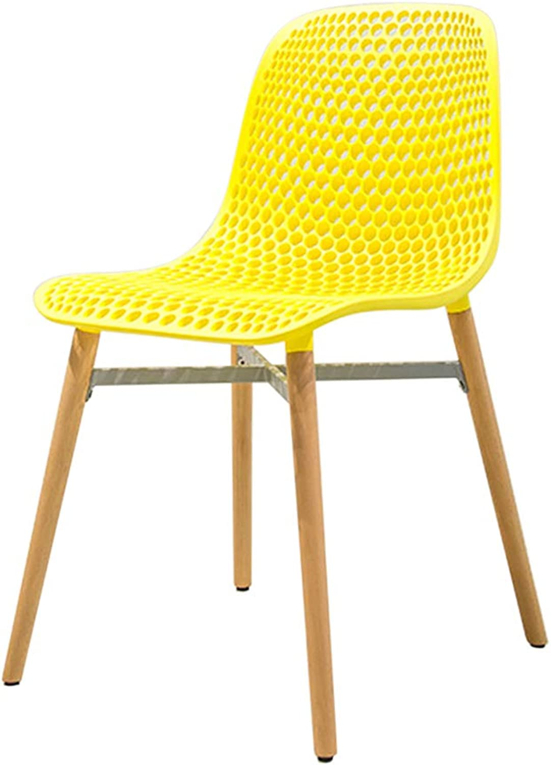 Creative Lounge Chair,Nordic Solid Wood Dining Chair, PP Plastic Makeup Stool,Strong Bearing Capacity,for Restaurant Pub Cafe Living Room Bedroom