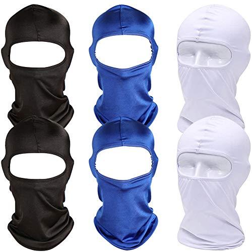 Sturmhaube - BESTZY 6 Stück Perfekt für den Winter als Skimaske, Skimaske Fahrrad Maske - Sturmmaske für Damen & Herren - auch Für das Fahrrad
