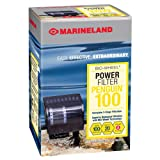 MarineLand Penguin 100 Power Filter, 10-20 Gallon, 100 GPH (PF0100B),Black