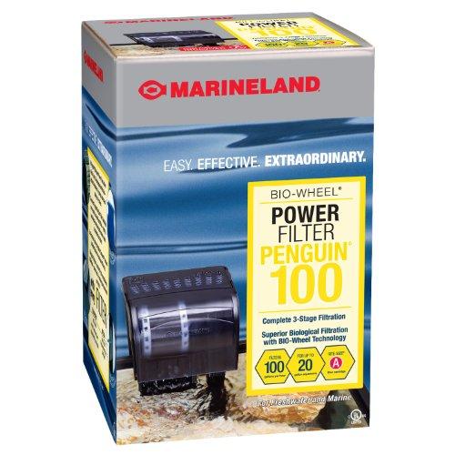Marineland Penguin Bio-Wheel Power Filter 100 GPH, Multi-Stage Aquarium Filtration